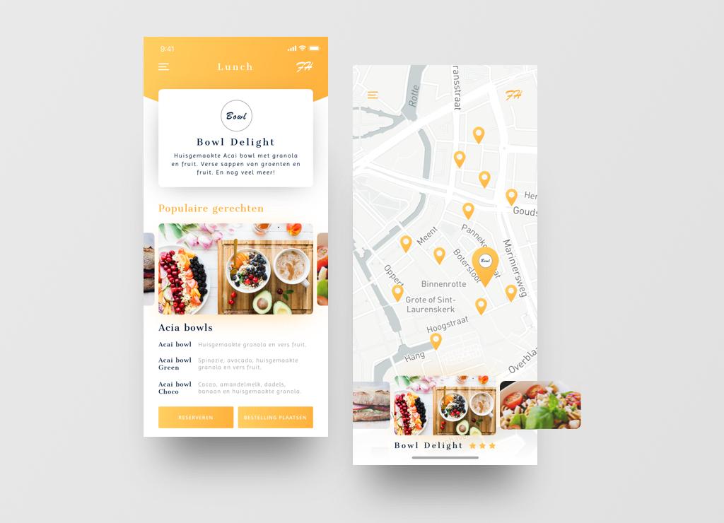 Concept FoodHunt App